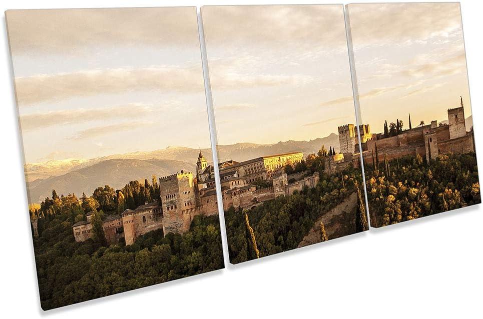 islandburner Cuadro en Lienzo Vista de la Famosa Alhambra de Granada Espa/ña Cuadros Modernos Decoracion Impresi/ón Salon