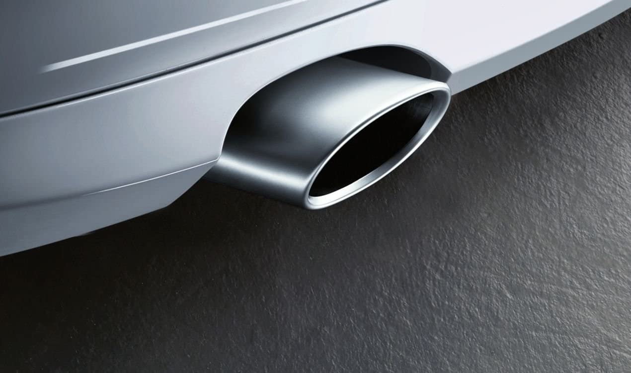 BMW (18 30 0 445 927) Embellecedor de punta de tubo de escape original, aluminio