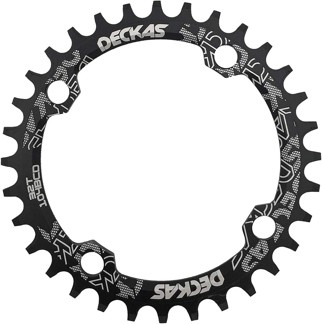 DECKAS Round Oval 104BCD 32T 34T 36T 38T Narrow Wide Chainring Single Chainring for 8//9//10//11-Speed