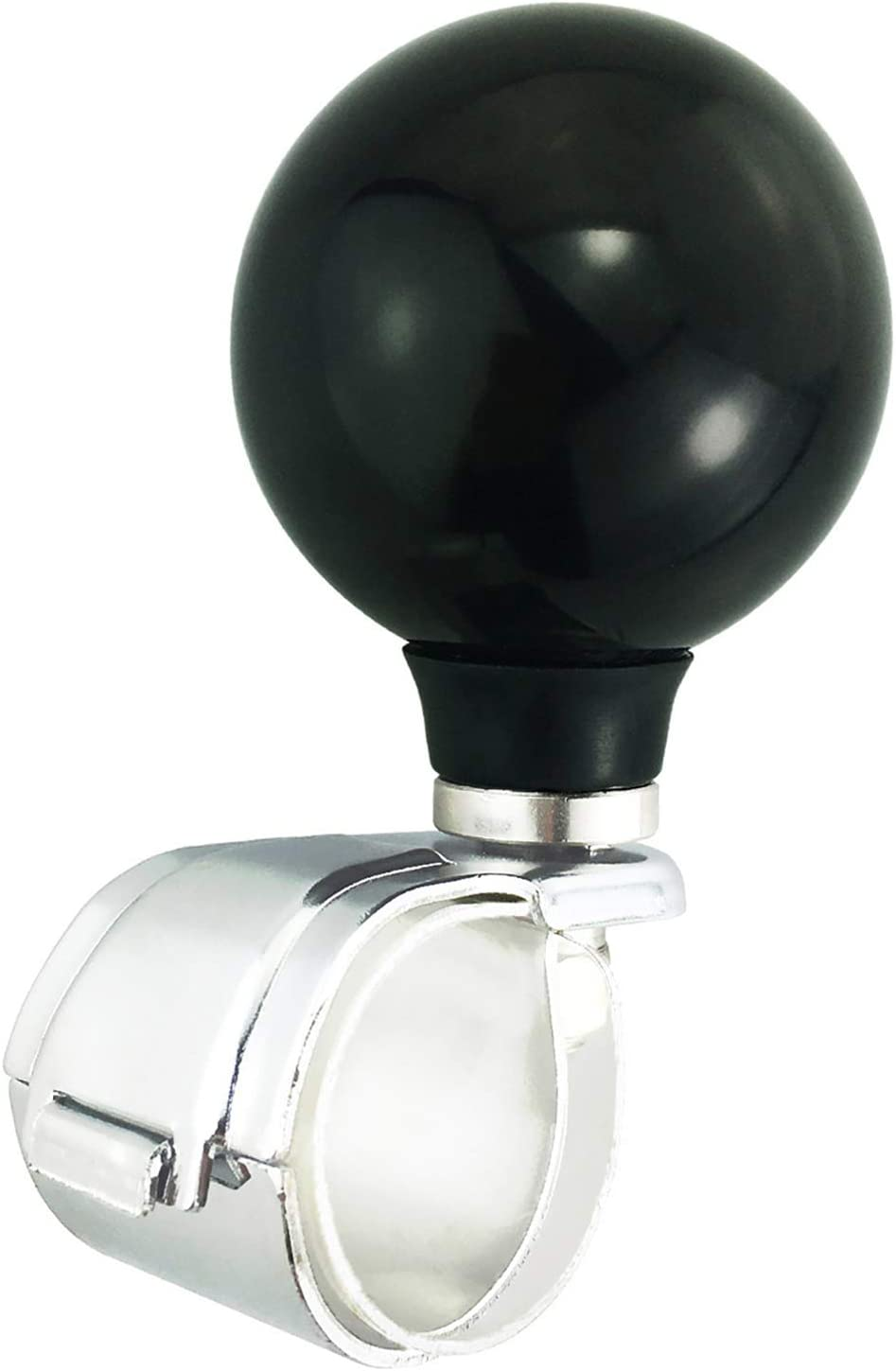 Abfer Black Steering Knob Car Wheel Power Turning Aid Helper Spinner Suicide Brodie Knobs for Most Vehicles Trucks Boats