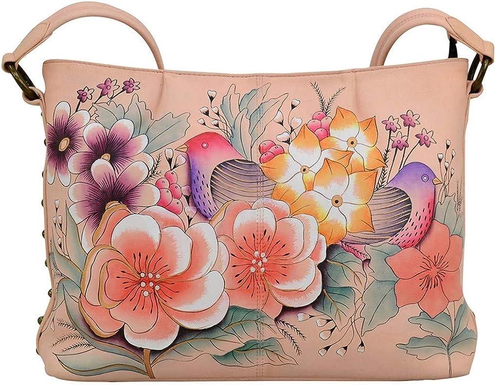 Anna by Anuschka Hobo Handbag | Genuine Leather | Vintage Garden