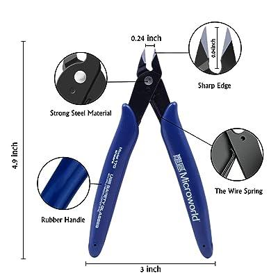 12 Metal DIY Model Kits Tool Including 7 Metal Model Long Edge Bending Tools Tab Twisting Tool Cylinder Cone Shape Bend Assist Tool 1 Clipper 4 Metal Tweezers for 3D Metal Jigsaw Puzzles Assembly