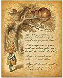 Alice Speaks to Cheshire Cat - 11x14 Unframed Alice in Wonderland Print