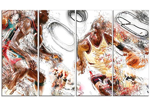 Designart PT2509-271 Basketball Offense - Large Sport Wall...
