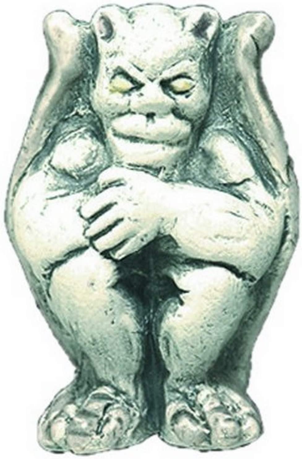 Shipwreck Beads 20 by 28mm Peruvian Hand Crafted Ceramic Gargoyle Beads 3-Per-Pack Gray