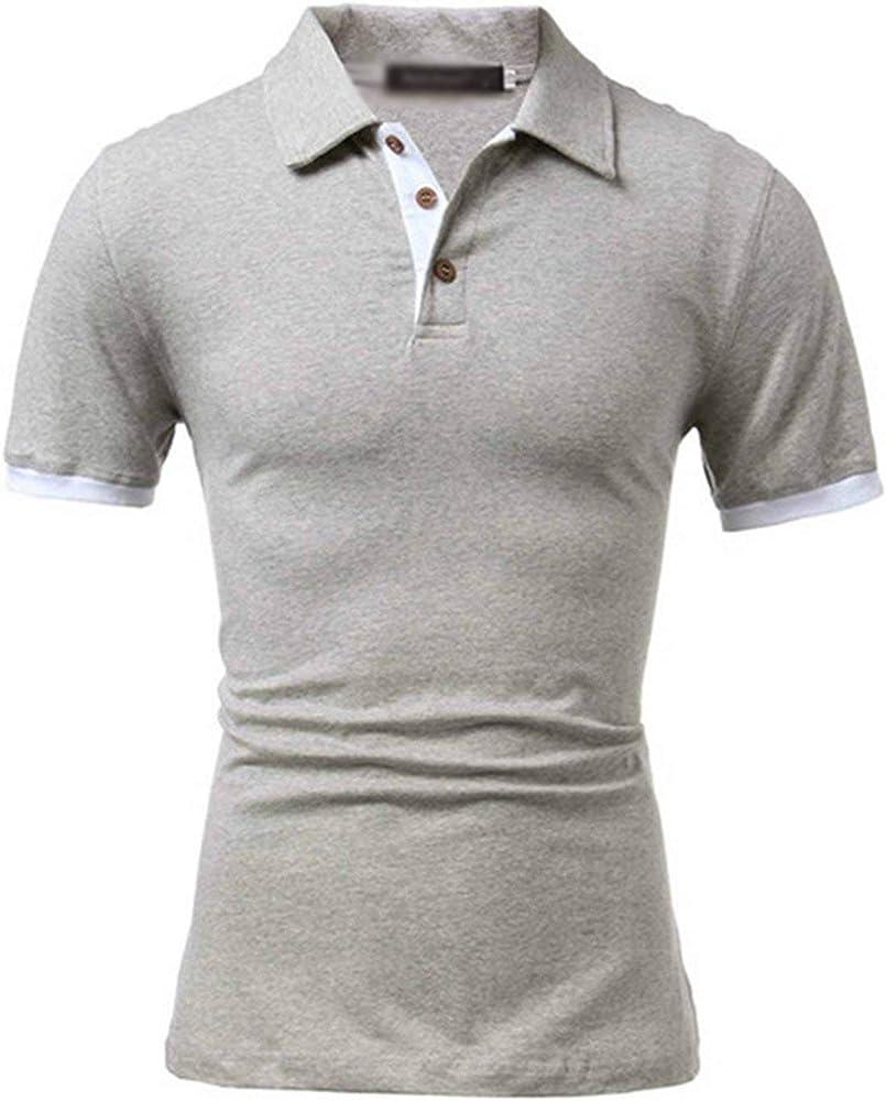 Camisa De Polo De Hombre De Camisa Polo Simple Estilo De Manga Corta De Verano Turn Down Camisa De Polo De Deporte De Moda Slim Slim Casual Tops De Talla Grande (Color :