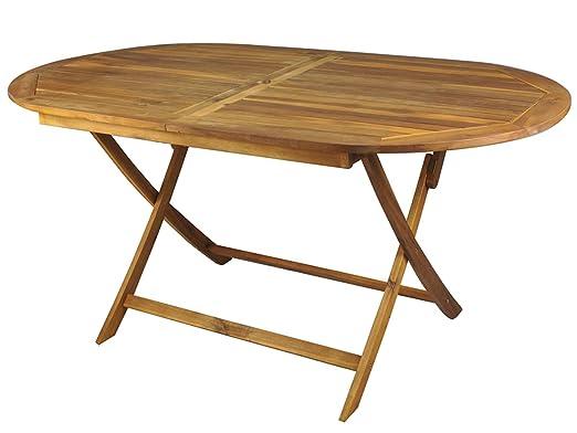 Jardín Mesa Redonda de madera mesa de comedor de jardín muebles de ...