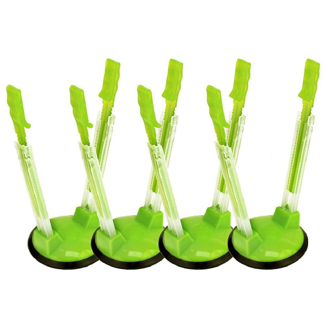 DBHAWK Sack Clips,One Set Non Slip&Adjustable Hands Free Baggy Rack Clip Ziplock Storage Bag Holder (4)