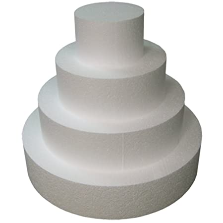 Round 4&quot; Cake Dummies - Set Of 4, Each 4&quot; High by 6&quot;, 8&quot;, 10&quot;, 12&quot; Round <span at amazon