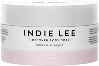 product image for Indie Lee I-Recover Body Soak - Exfoliating Detox Scrub with Dead Sea & Himalayan Salts - Relaxing Aromatherapy Shower Soak for Sore Muscles (8oz / 226.8g)