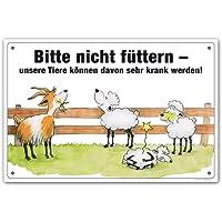 """Schild """"Bitte nicht füttern"""" (Schafe / Ziegen)"""