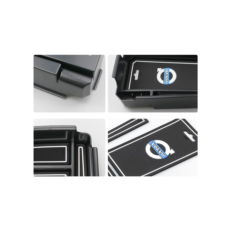 RUIYA Central Console Accoudoir Bo/îte Personnalis/é pour 2019 XC40 Accessoire De Voiture Bo/îte De Rangement Console Organisateur Insert Plateau