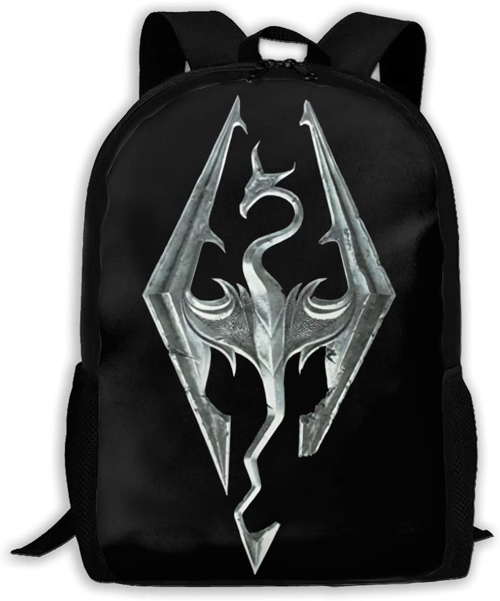 Skyrim Travel Laptop Backpack Canvas Casual Bookbag