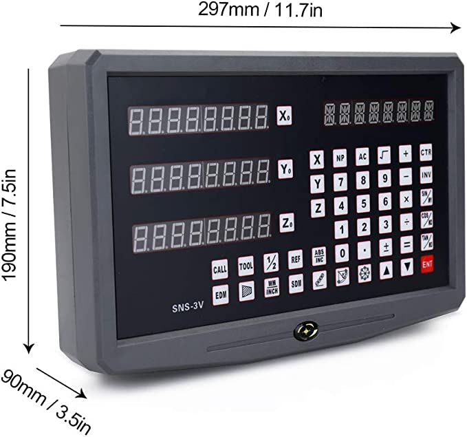 KKmoon Drehmaschine Digitalanzeige Gitter CNC Fr/äsen Digitalanzeige Fr/äsmaschine Bedienfeld Messger/äte f/ür Drehmaschine Fr/äsmaschine