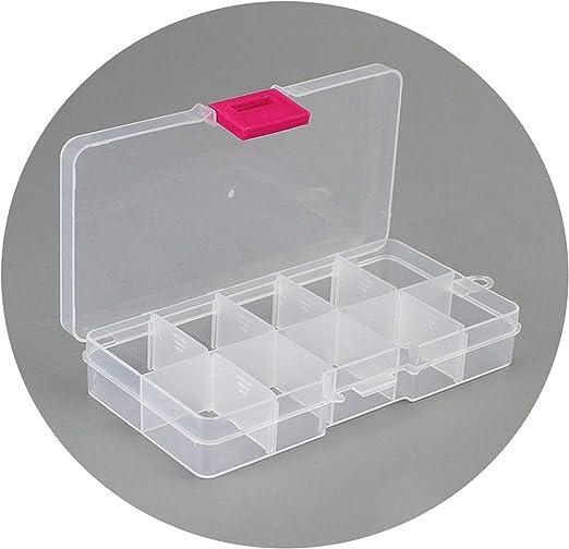 Threeflower 10 Compartimentos de plástico Transparente para organizar Joyas, Caja de Almacenamiento para Joyas, Pastillas: Amazon.es: Juguetes y juegos