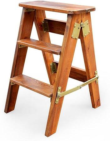 Taburetes escalera Taburete de Cocina de Banco de Taburete Plegable de Madera Maciza Taburete de Taburete Plegable Taburete Plegable de Escalera de Madera Simple: Amazon.es: Hogar