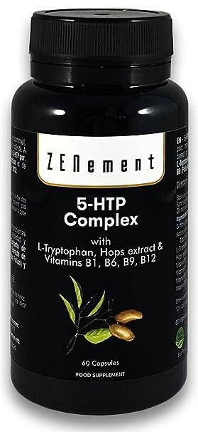 5-HTP Complex con L-triptófano, extracto de Lúpulo y vitaminas B1,