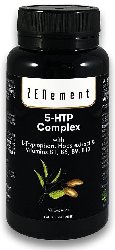 5-HTP Complex con L-triptófano, extracto de Lúpulo y vitaminas B1, B6, B9, B12, ...