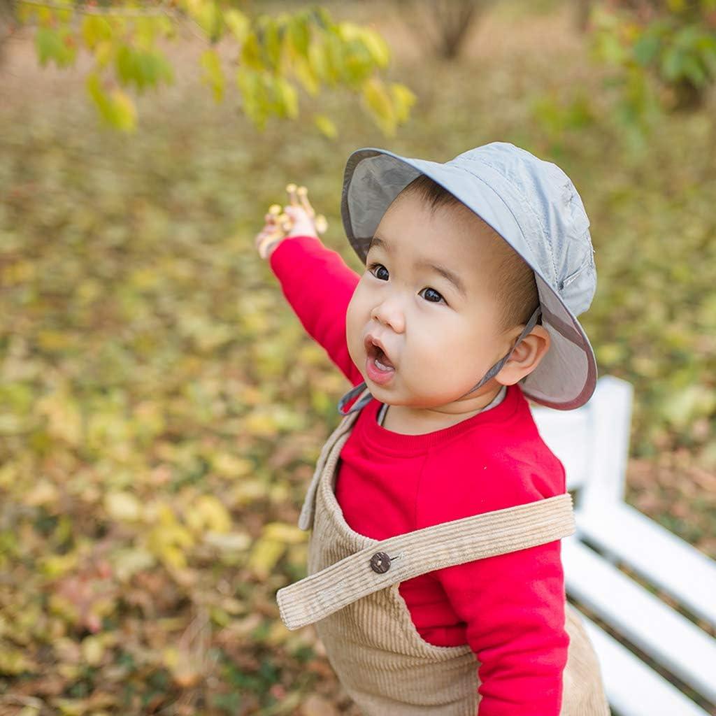 Ami /& Li tots Baby Sonnenhut Superleichtes Kind Einstellbare ultrad/ünne atmungsaktive Eimer Hut f/ür M/ädchen Jungen S/äugling Kind Kleinkind UPF 50
