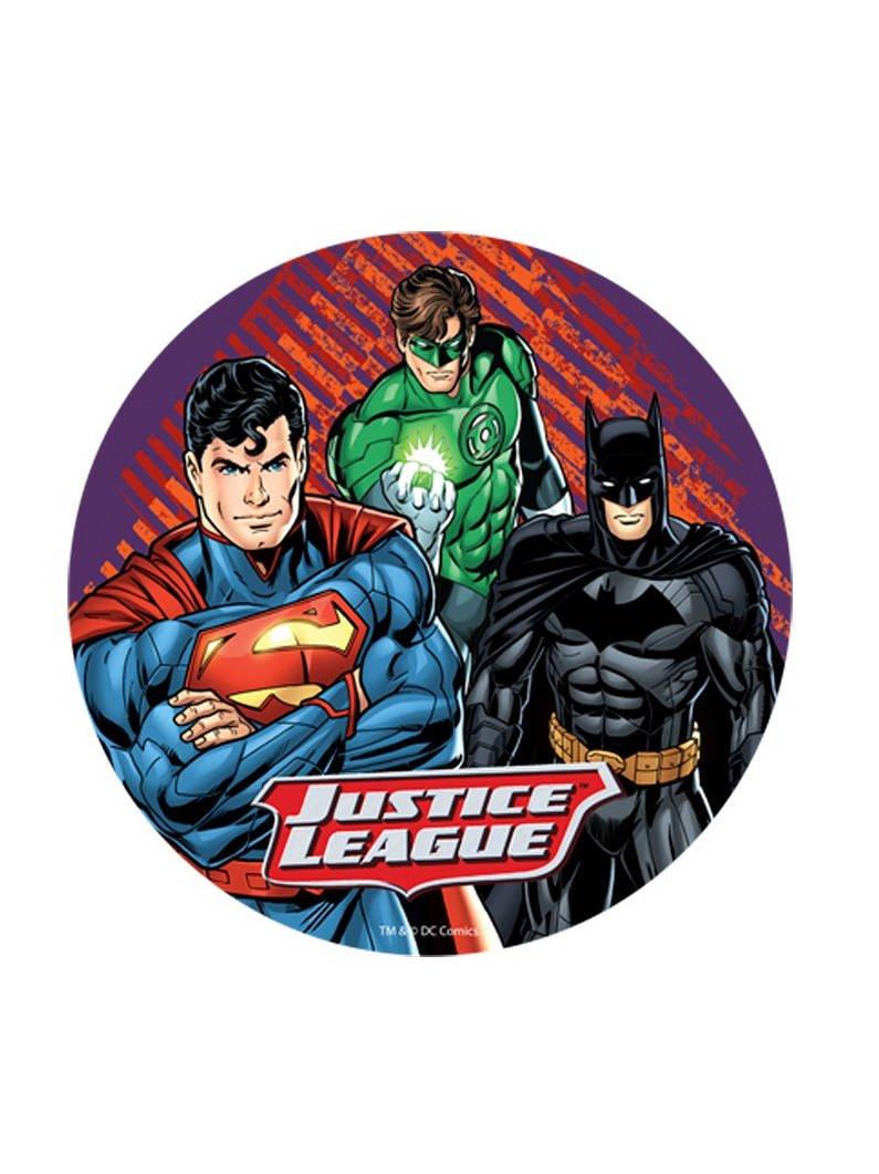 Generique - Disco oblea Liga de la Justicia Aleatorio 20 cm: Amazon.es: Juguetes y juegos