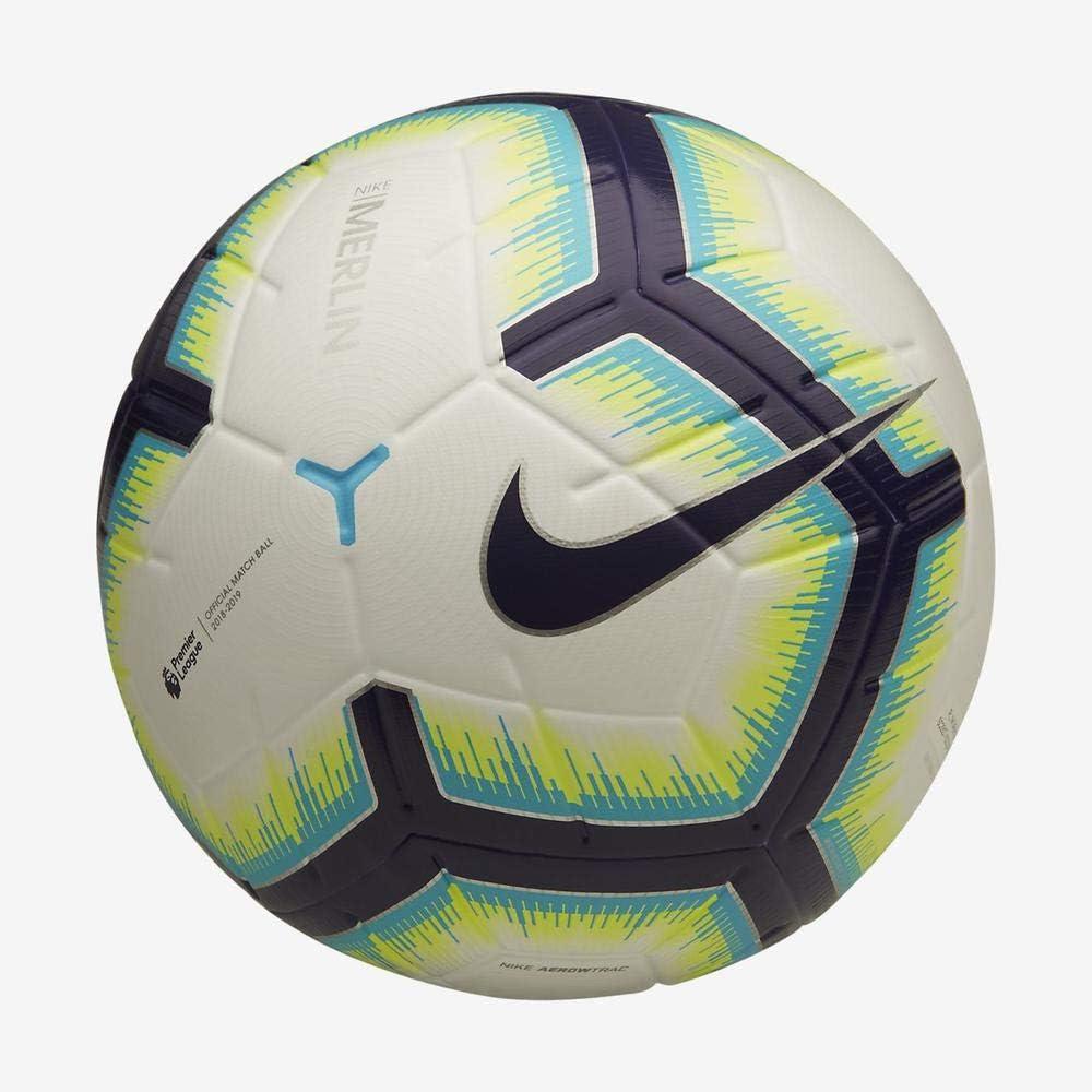 Nike PL NK Merlin Balón de fútbol, Adultos Unisex, White/Blue ...