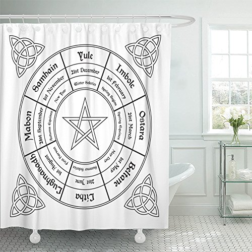 Denim Calendar Chart - Emvency Shower Curtain 72