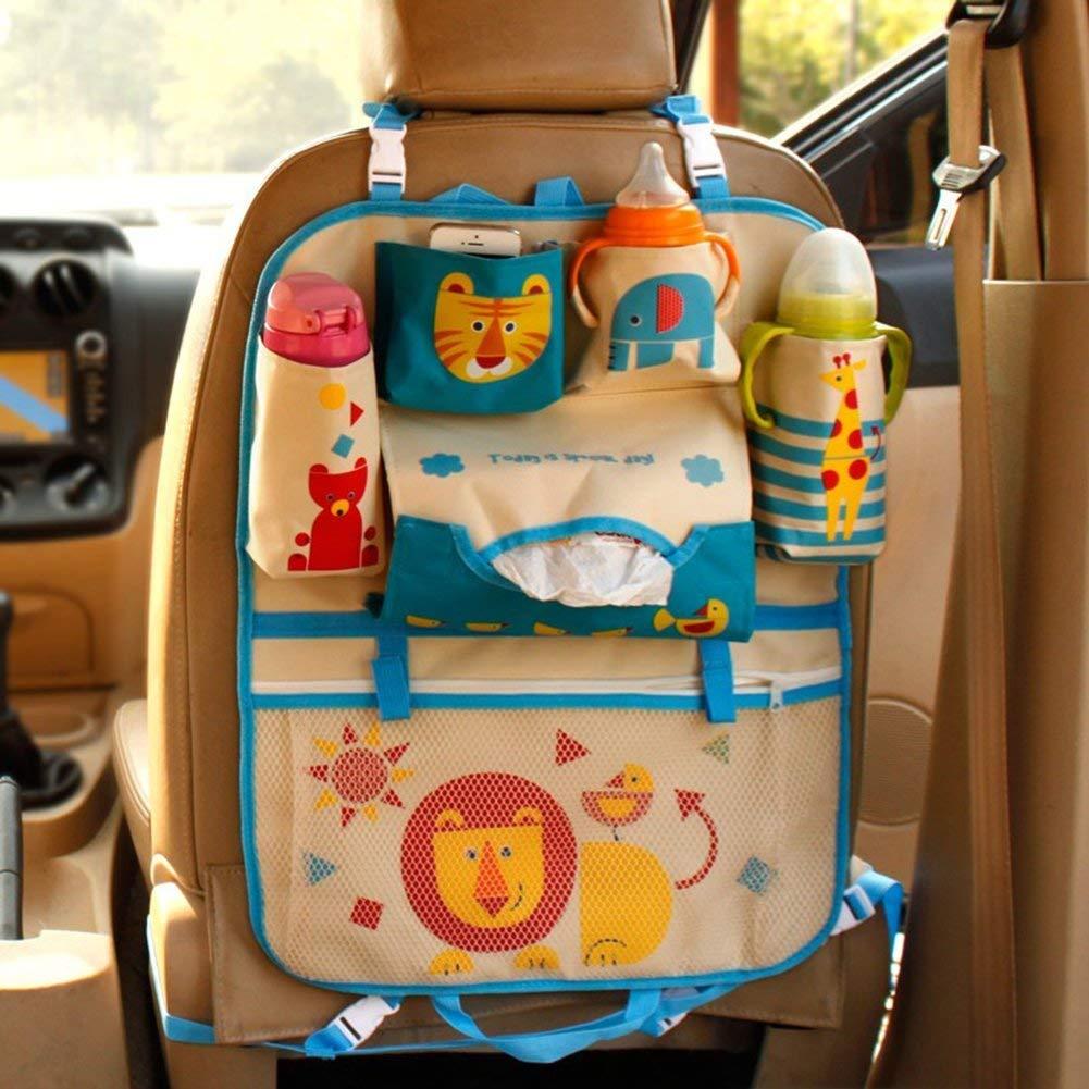 AOOPOO Cartoon Autositz Zur/ück Organizer Aufbewahrungsbeutel H/ängen Auto Organizer Taschen f/ür Kinder Rot