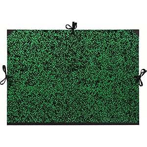 Carpeta de dibujo con cintas - Din B2 - 50x70 cm - Color verde marmolado