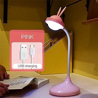 Meng Pet Silicona Bunny Touch Lámpara De Mesa Regulable Recargable ...
