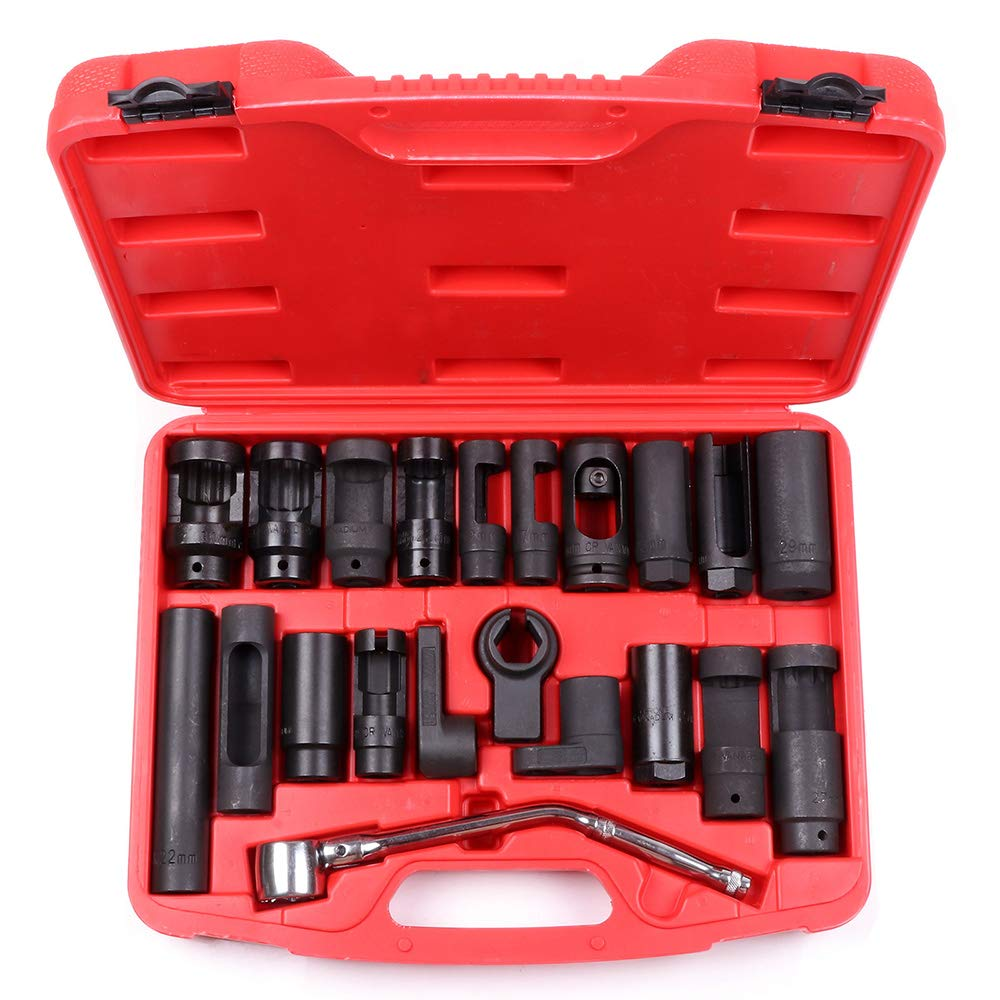 SCITOO Fit Auto Truck Car 21pcs O2 Oxygen Sensor Socket Special Sending Unit Socket Tool with 7//8 Offset Oxygen Sensor Socket