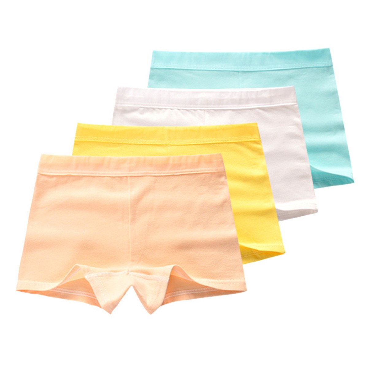 Little Girls Kids Baby Toddler 4Pcs Solid Color Boyshort Underwear Boxers Briefs Panties