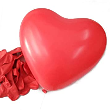 HDE 6u0026quot; Heart Shaped Balloons Red Valentineu0027s Day Latex Party  Decoration Balloons ...