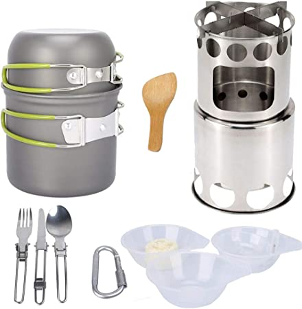 Equipo para exteriores 13 piezas de utensilios de cocina de ...