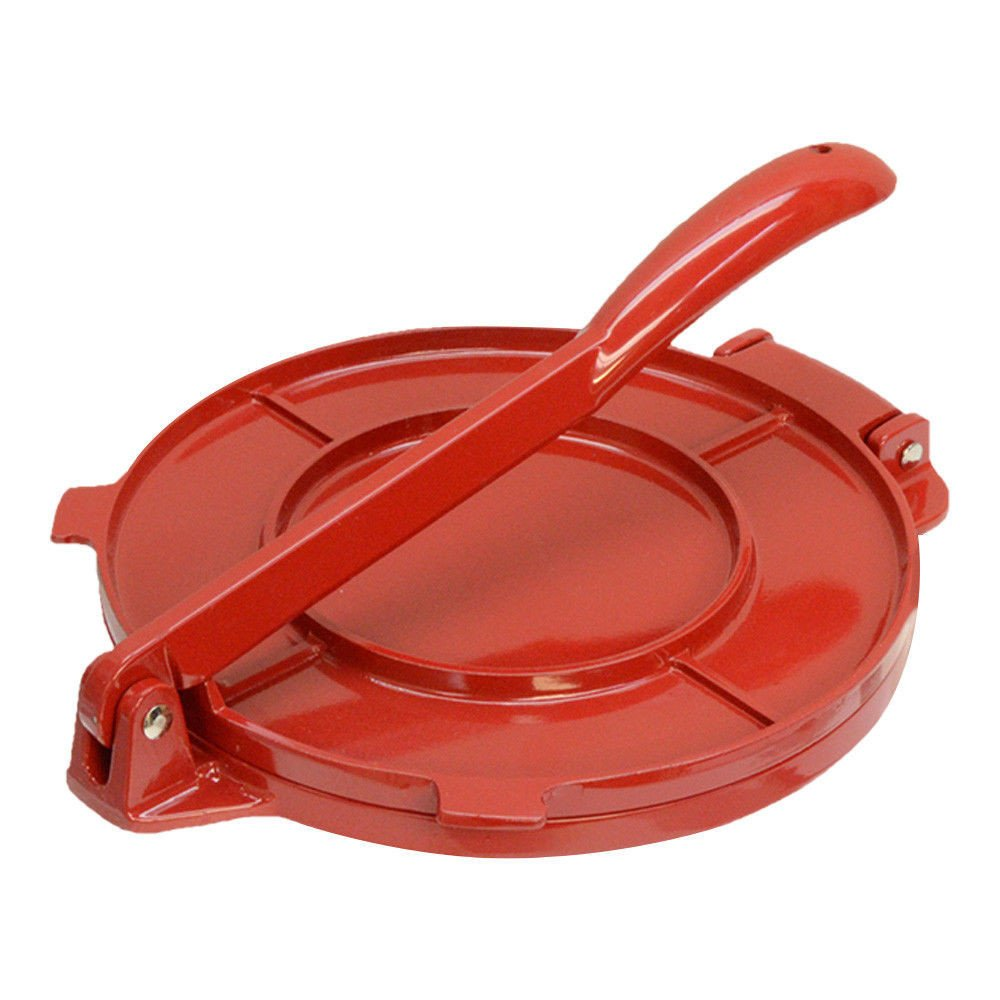 8'' Red Aluminum Tortilla Press Maker Tortilladora Light Weight Aluminum