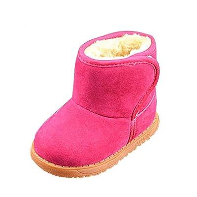 LONUPAZZ Neige Bottes Chaudes Hiver Enfant Coton Chaussures BéBé Fille Hiver (1-3 Ans)
