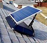 SRS SUNRISE SOLAR INC Solar Attic Fan FB 1600 TLT FT – 30 Watt SunRise Solar Fan with Thermostat & Tilting Panel