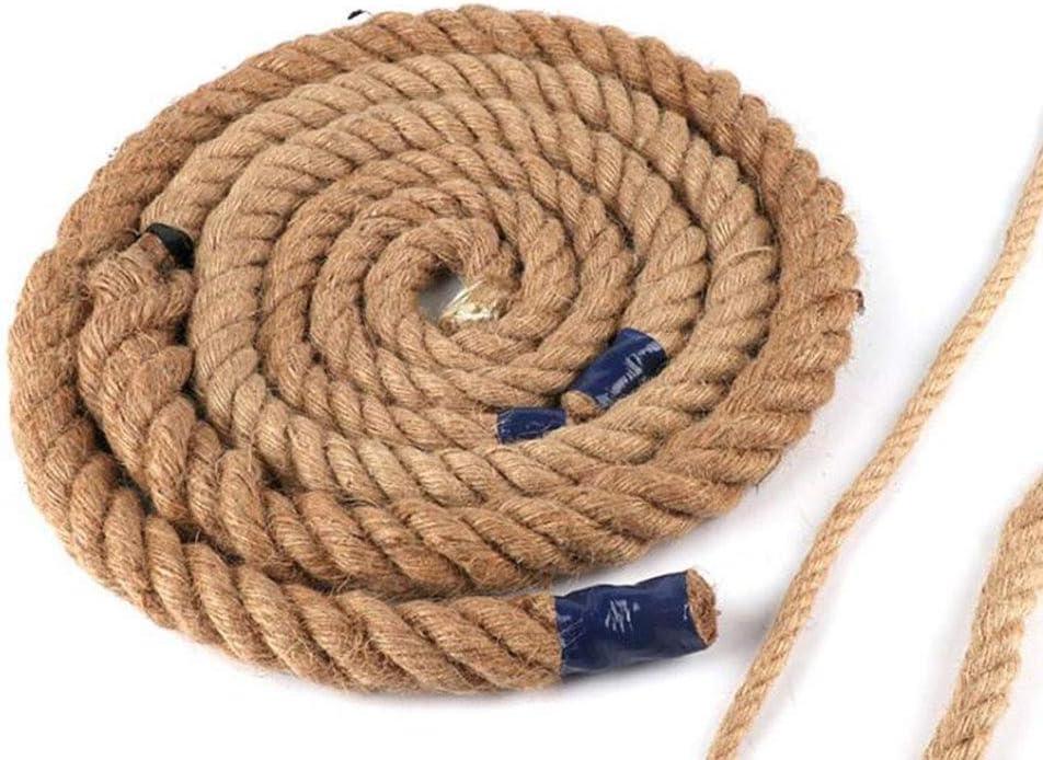 Cuerda de yute trenzada 1-32mm Cordón de macramé de yute fuerte y grueso for jardinería Bundling Decoración Gato rascarse (Precio por metro) (Size : 14mm hemp rope)
