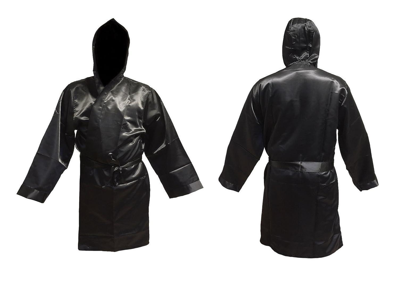 Cappotto da boxe nero taglia senior adulto, per boxe e kickboxing e promozione Budodrake