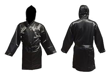 Boxeo Manto negro tamaño junior menor Abrigo para boxeo kickboxing promoción: Amazon.es: Deportes y aire libre