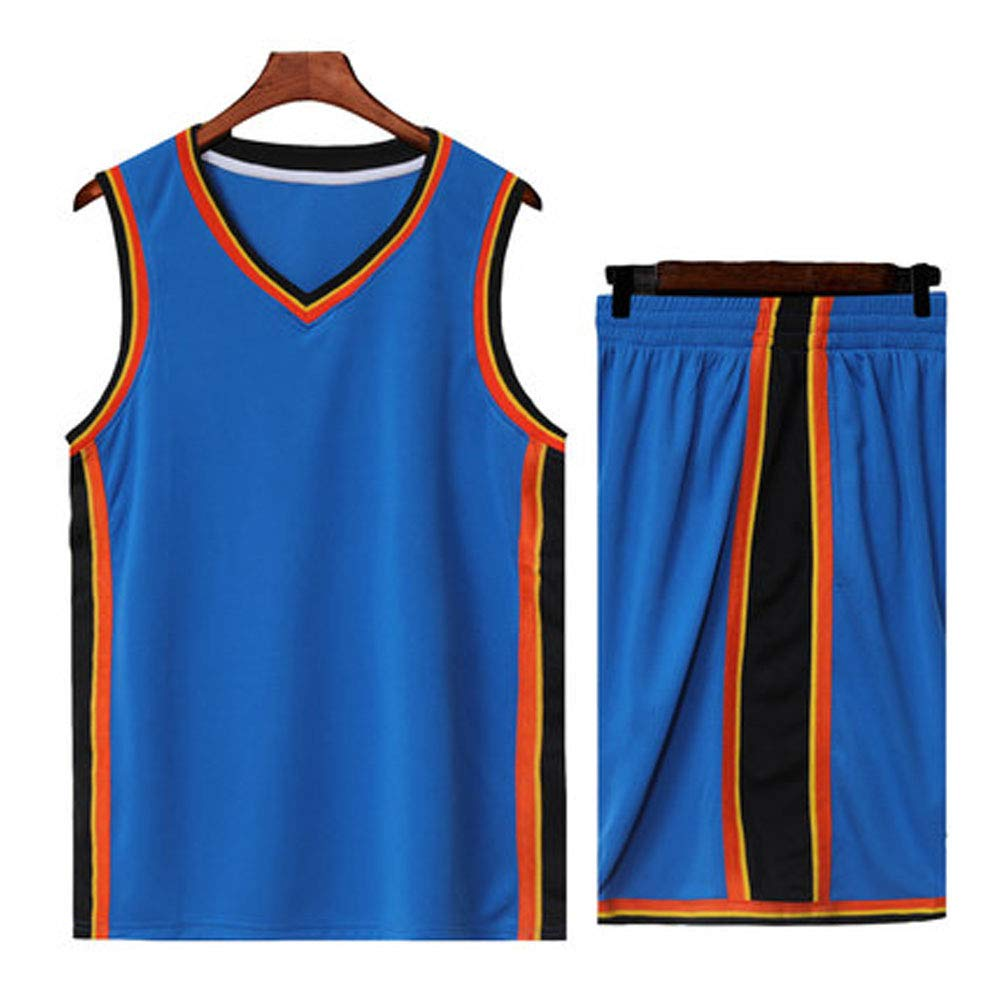 SUXT Oklahoma City Thunder NBA #13#0 Paul George Russell Westbrook Man Basketball Jersey