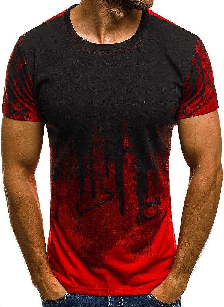 Tomatoa Herren T-Shirt Kurzarmshirt Top Casual Shirt Bodybuilding Muscleshirt M/änner Kurzarm Shirt Rundhals Oversize Slim-Fit Sweatshirts Longshirt M 5XL