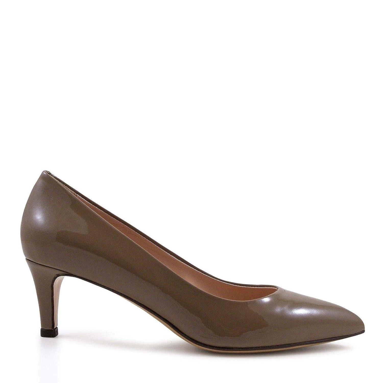 2d88aed721f6a Amazon.com | LEONARDO SHOES Women's 6805VERNICENOCCIOLA Brown Patent ...