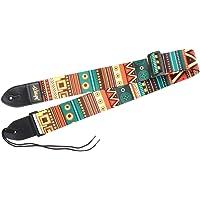 MagiDeal Ajustable Cinturón Correa de Algodón para Guitarra Eléctrica Bajo Ukulele Ligero y Pequeño Cómodo de Llevar