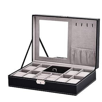 Caja de Relojes Caja de reloj - 8 rejillas Reloj de pulsera de madera Caja de presentación ...