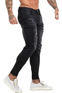 bb1e730d4a81b3 GINGTTO Skinny Jeans for Men Stretch Slim Fit Ripped Distressed at ...