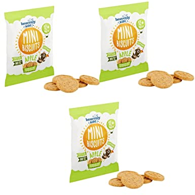 Heavenly Tasty Galletas Mini de Manzana 30g Pack de 3
