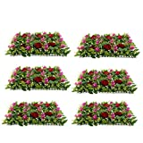 Fenteer Creative Artificial Plastic Plant Flower Wall Hanging Background Decor 6Pieces