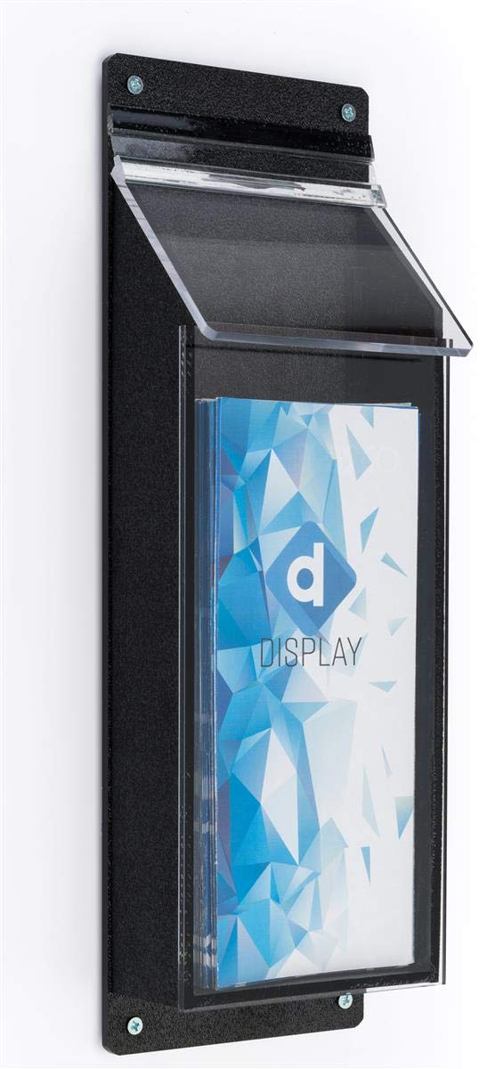 Displays2go 4'' x 9'' Outdoor Literature Holder with Clear Front Dispenser (OPD1SM)