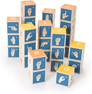 product image for Uncle Goose American Sign Language Blocks - Made in The USA