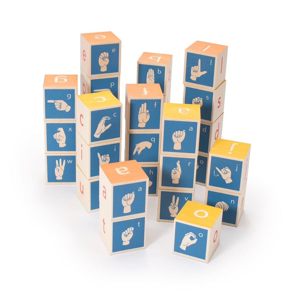 Uncle Goose American Sign Language Blocks - Made in USA
